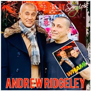 Andrew Ridgeley from Wham at Sergios