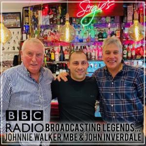 STARS AT SERGIOS - JOHNNIE WALKER MBE AND JOHN INVERDALE
